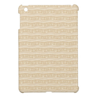 Seashells sand brown/white pattern cover for the iPad mini