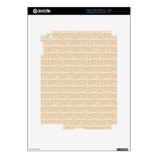 Seashells sand brown/white pattern iPad 2 decals