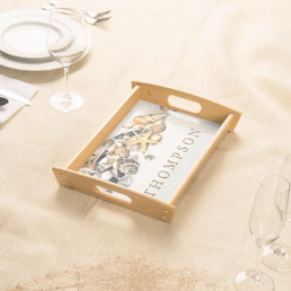 Seashells Serving Tray Personalized
