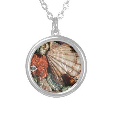 Beach Themed Seashells Silver Plated Necklace