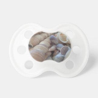 Seashells soleados del verano. Tropical romántico, Chupetes Para Bebés