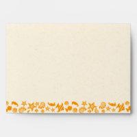Seashells & Starfish Beach Wedding Envelope