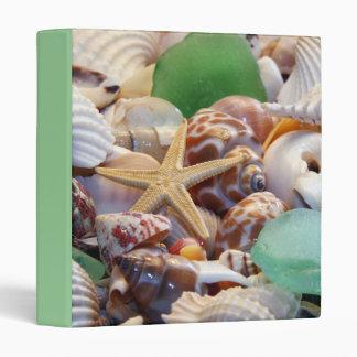 Seashells & Starfish Binder
