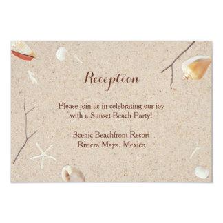 Seashells & Starfish on the Beach Wedding Insert Card