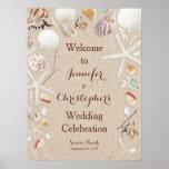 Seashells & Starfish on the Beach Wedding Print