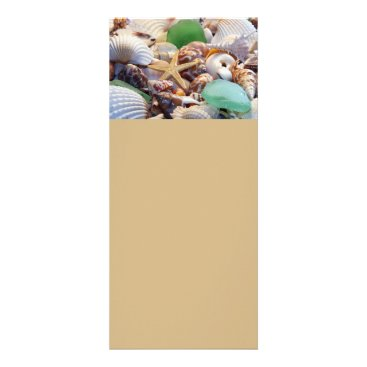 Professional Business Seashells, Starfish & Sea Glass Rack Cards