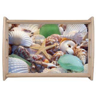 Seashells & Starfish Serving Tray