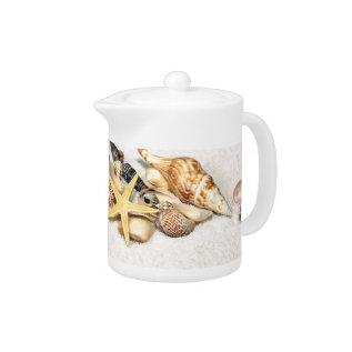 Seashells Tea Pot at Zazzle