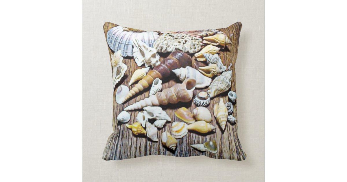 Seashells Throw Pillow Zazzle