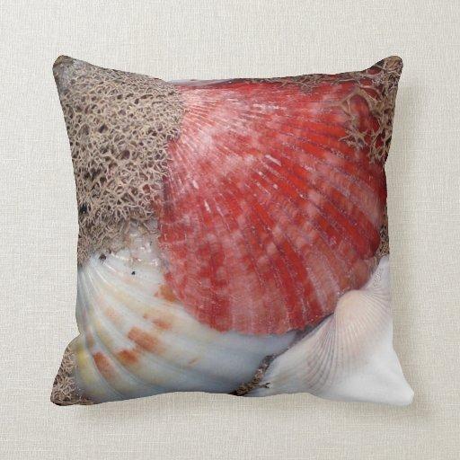 Seashells Throw Pillows Zazzle
