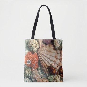 Beach Themed Seashells Tote Bag