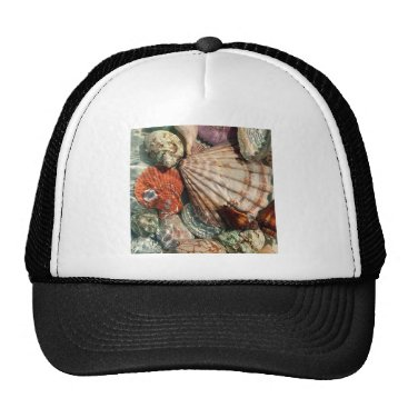 Beach Themed Seashells Trucker Hat
