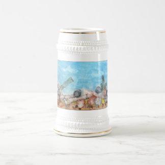 Seashells Under The Sea. Beer Stein