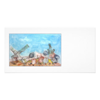 Seashells Under The Sea. Customized Photo Card