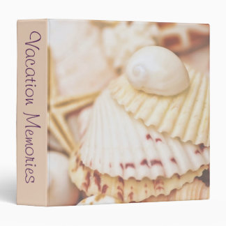 "Seashells Vacation Memories 1.5"" Photo Album 3 Ring Binder"