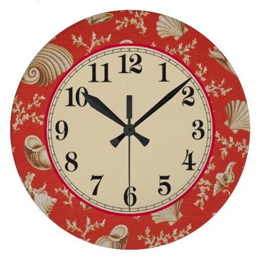 Seashells wallclocks zazzle for Seashell clock