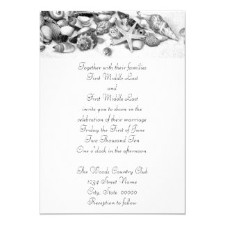 Seashells Wedding Invitations
