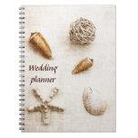 seashells wedding planner notebook