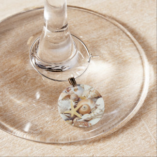 Seashells Wine Charm
