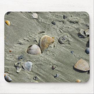 Seashells y arena alfombrillas de raton