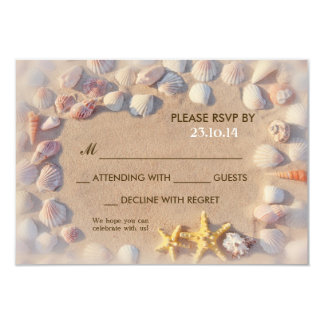 seashells y boda de playa de las estrellas de mar comunicado personalizado