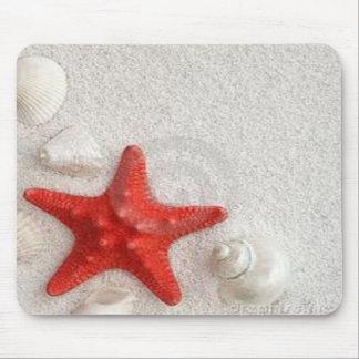 seashells y estrellas de mar tapetes de ratón
