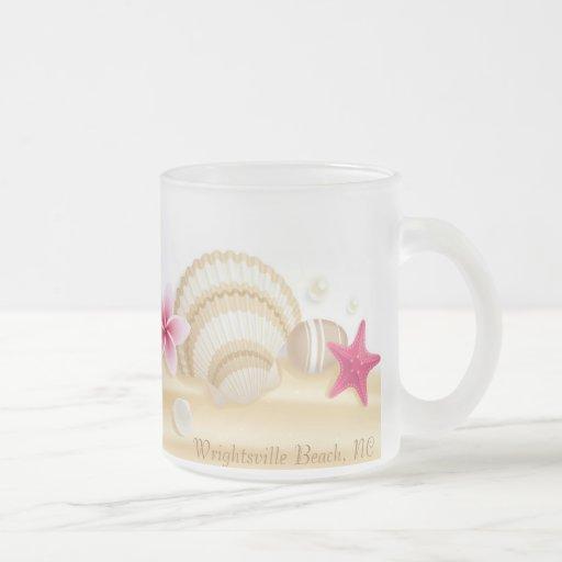 Seashells y estrellas de mar taza de café