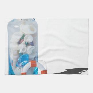 SeashellsJarLifePreservers090615 Kitchen Towels