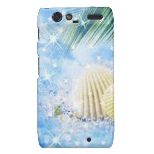 seashels shiney motorola droid RAZR cases