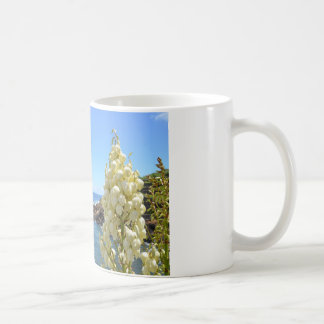 Seashore and Yucca Flowers In Bloom Coffee Mug