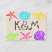 Seashore Beach Wedding Place Cards