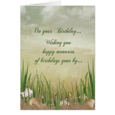 Beach Themed Seashore Birthday Card