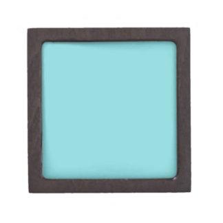 Seashore Blue Personalized Aqua Teal Background Jewelry Box