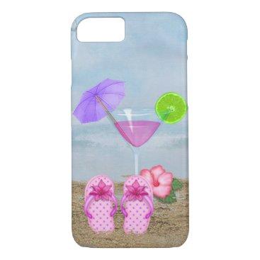 Beach Themed Seashore Cockail iPhone 8/7 Case