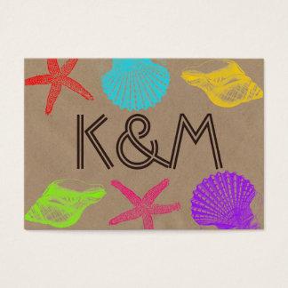 Seashore Craft Wedding Place Cards