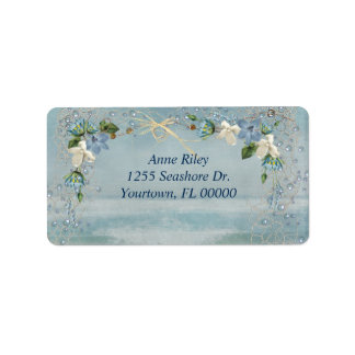 Seashore Flowers Label