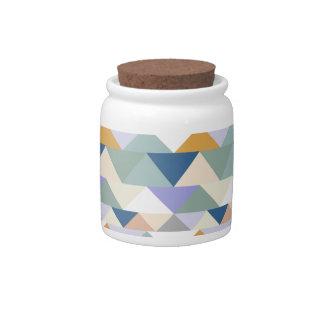 Seashore Geometric Triangle Candy Dishes