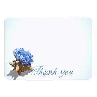 Seashore Hydrangea Flat Card Thank You
