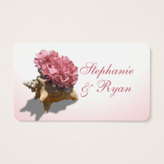 Seashore Hydrangea Pink Wedding Information Cards