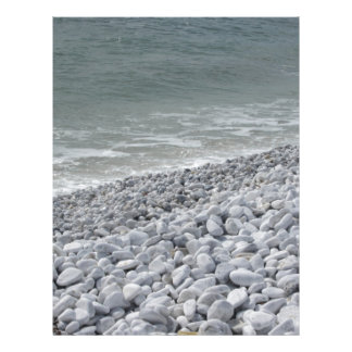 Seashore of beach in a cloudy day at summer letterhead