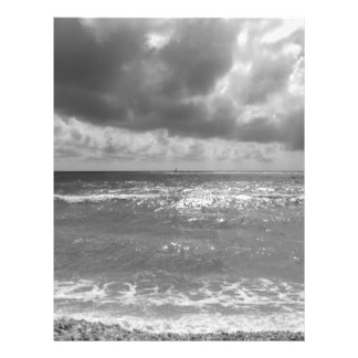 Seashore of Marina di Pisa beach in a cloudy day Letterhead