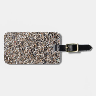 Seashore of shells and stones closeup luggage tag