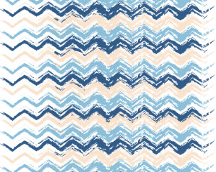 Blue Zigzag Wall Decals Stickers Zazzle