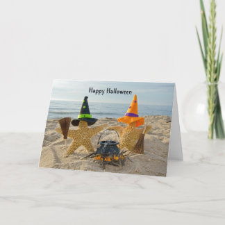 Seashore Starfish Halloween Card