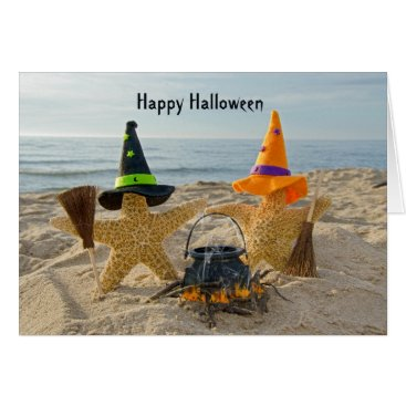 Beach Themed Seashore  Starfish Halloween Card