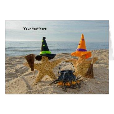 Beach Themed Seashore  Starfish Invite Card
