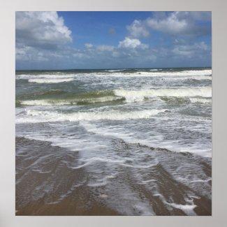 Seashore Tide Poster