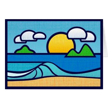 Beach Themed Seashore Wave card. Blank inside. Card