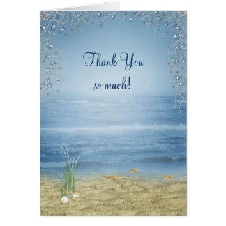 Seashore Wedding Thank You Stationery Note Card
