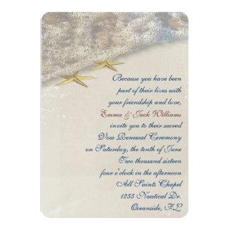 Seashore  Wedding Vow Renewal 5x7 Paper Invitation Card